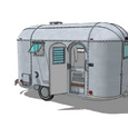 airstream uit 3D warehouse gedownload